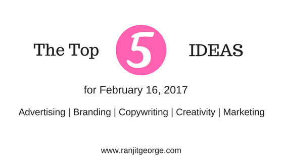 Top 5 ideas on marketing, advertising, advertising, branding and creativity