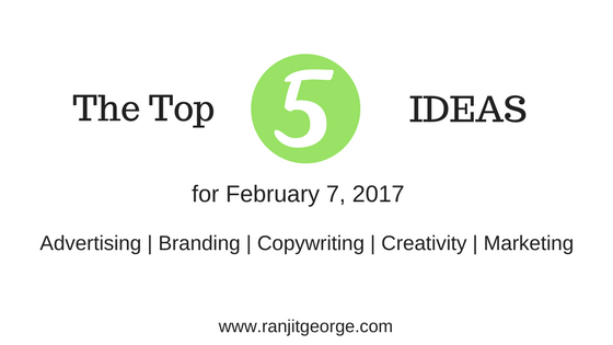 top 5 ideas on marketing, advertising, creativity, copywriting and branding
