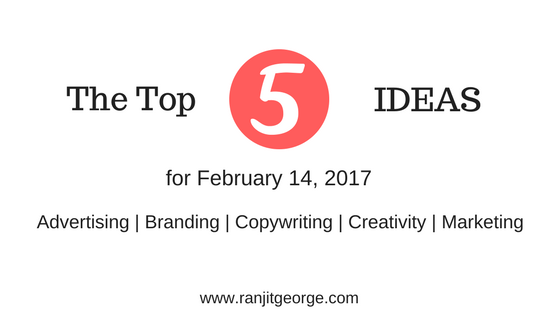 The top ideas for marketing, advertising, copywriting, branding and creativity